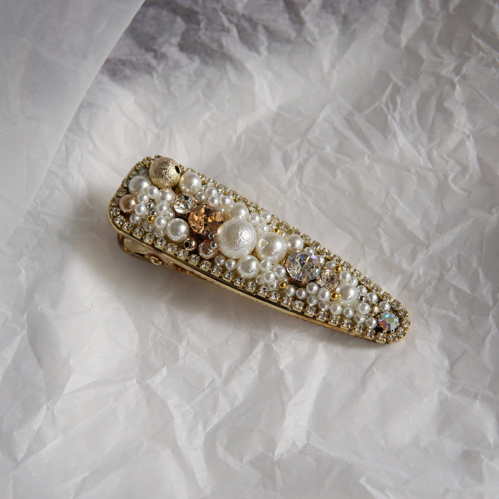 Baroque Hair Barrette White (BACK IN STOCK) - atto.studio