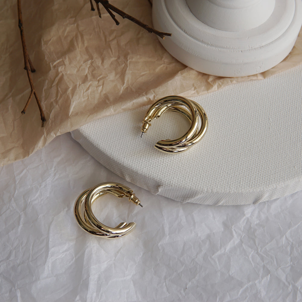 Trio Hoop Earrings (BACK IN STOCK) - atto.studio