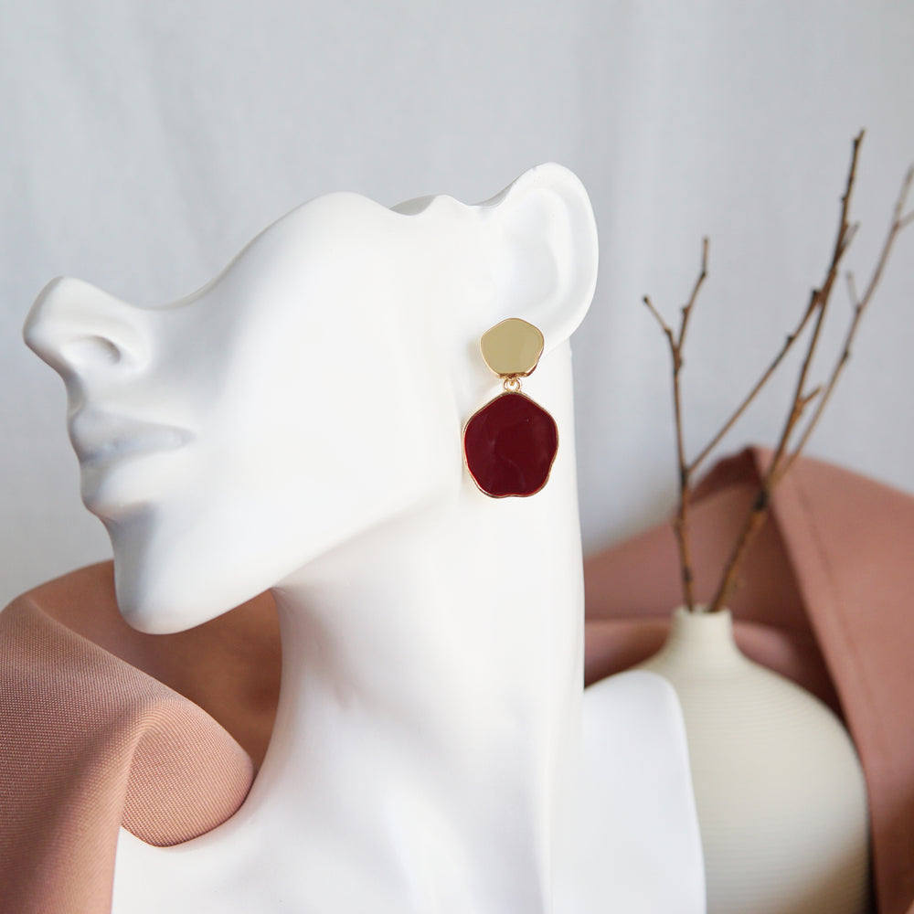Keely Drop Earrings Red - atto.studio
