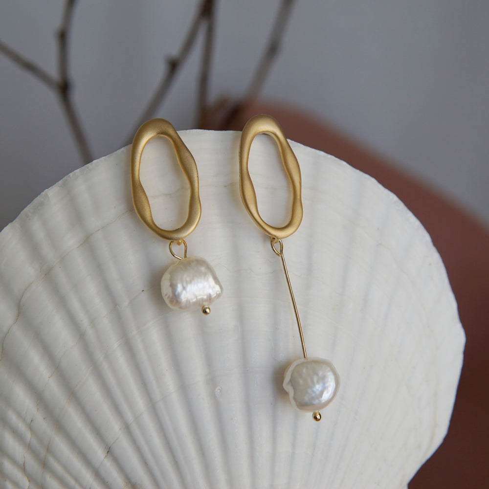 Jade Freshwater Pearl Earrings (2 colours) - atto.studio