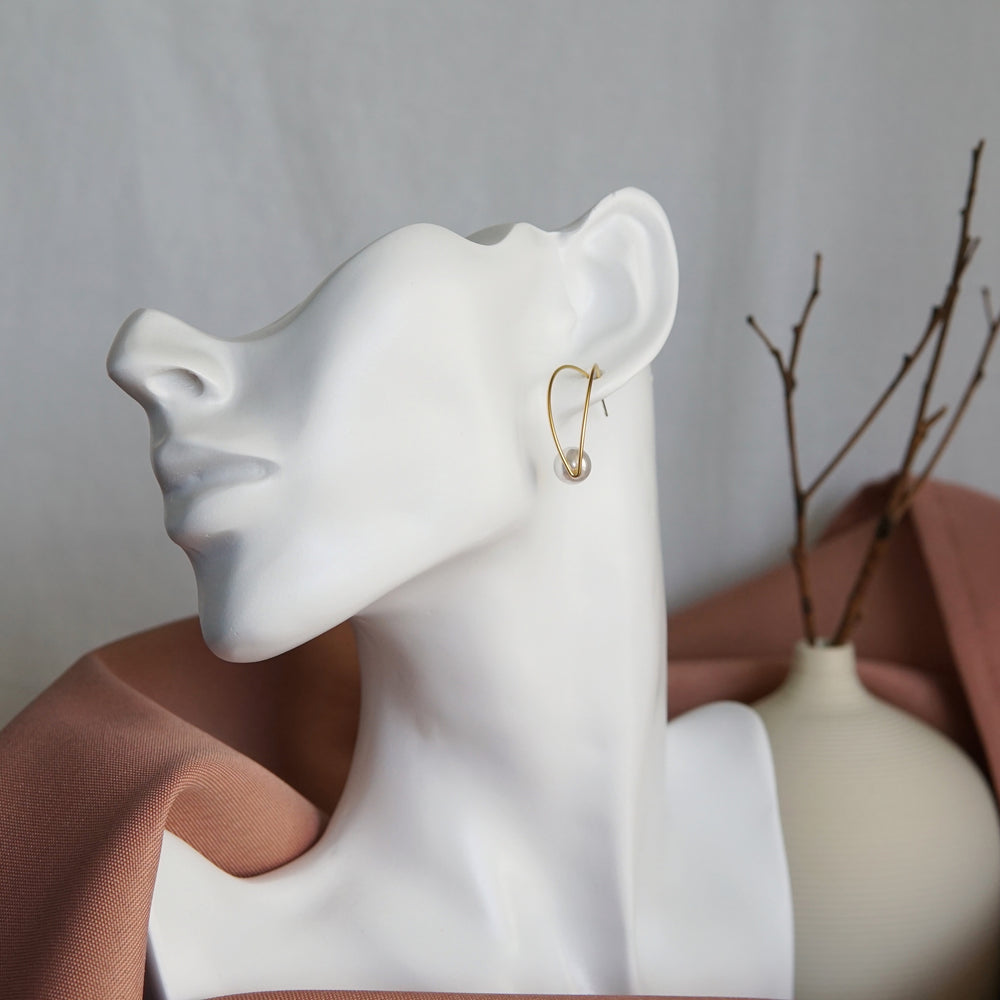 Tara Freshwater Pearl Earrings - atto.studio