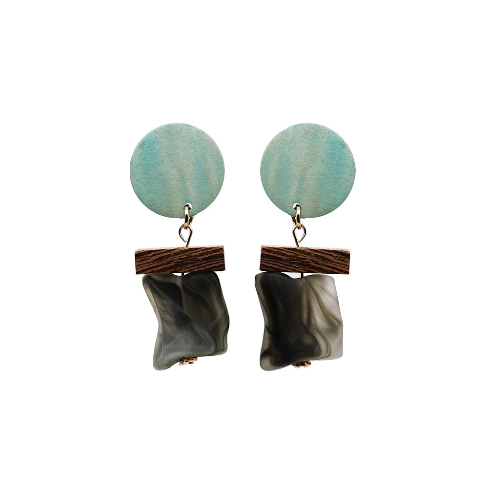 Fia Geometric Drop Earrings