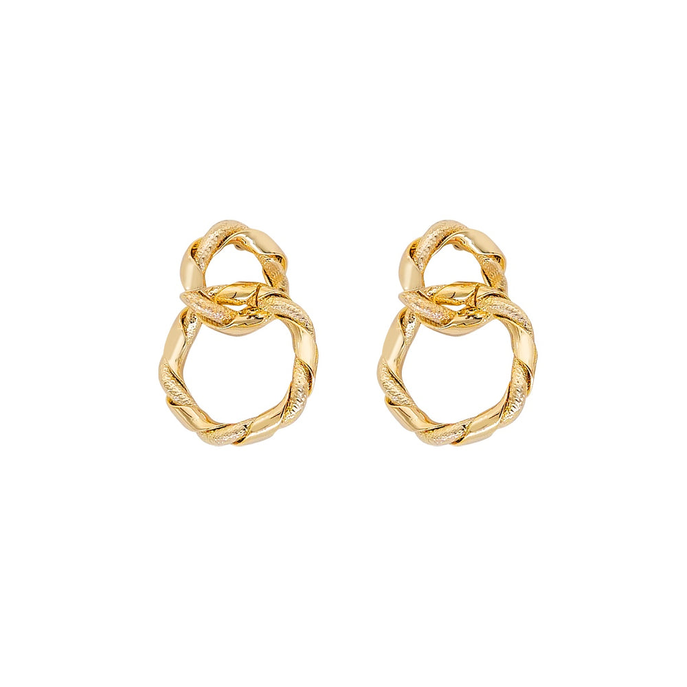 Doreen Linked Hoop Earrings