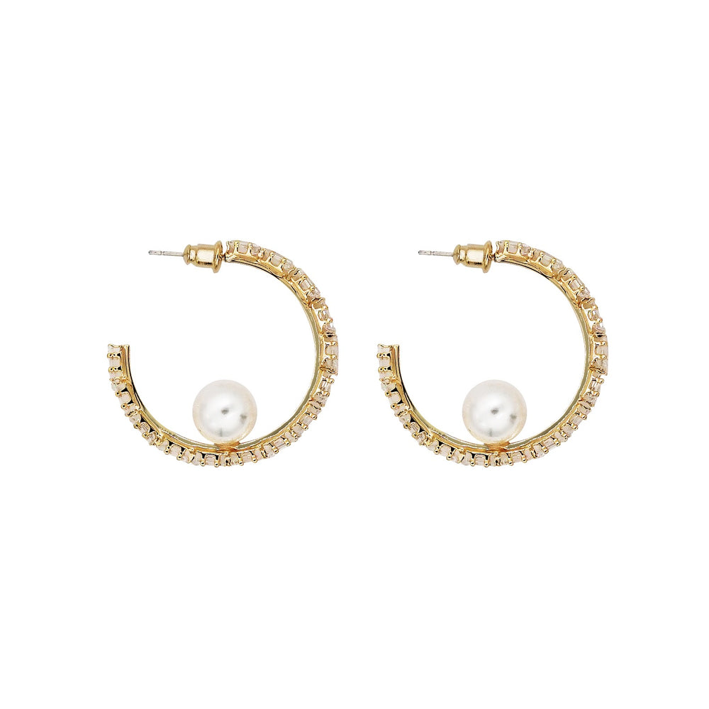 Emma Gold-plated Hoop Earrings
