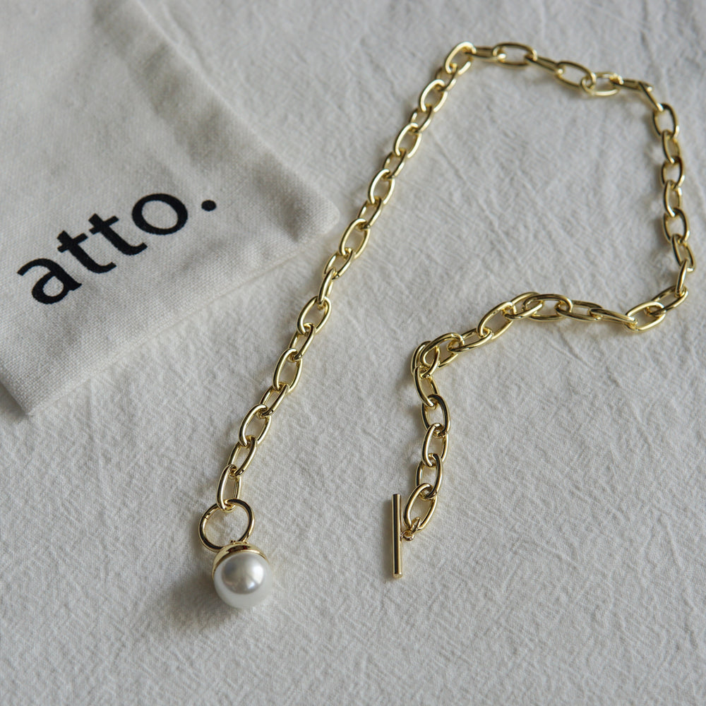 The Pearl Fob Necklace - atto.studio
