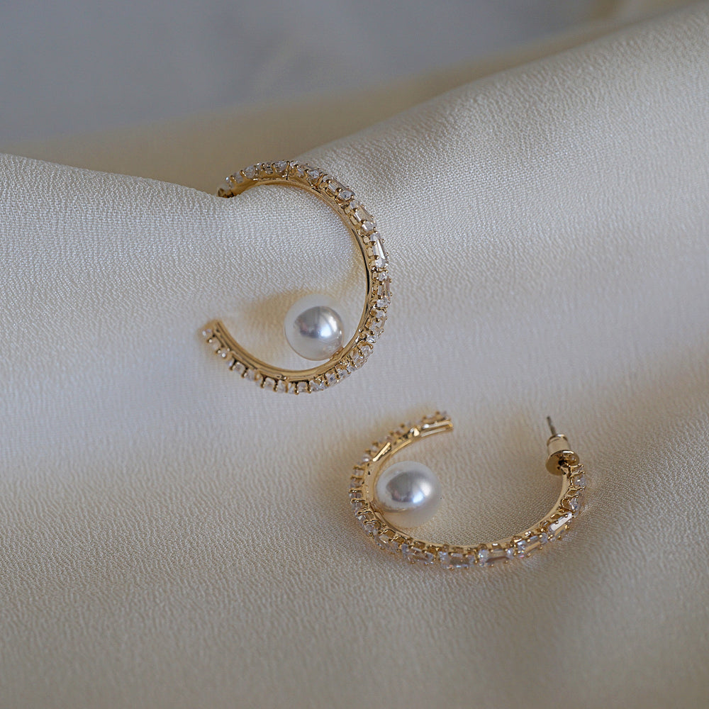 Emma Gold-plated Hoop Earrings - atto.studio