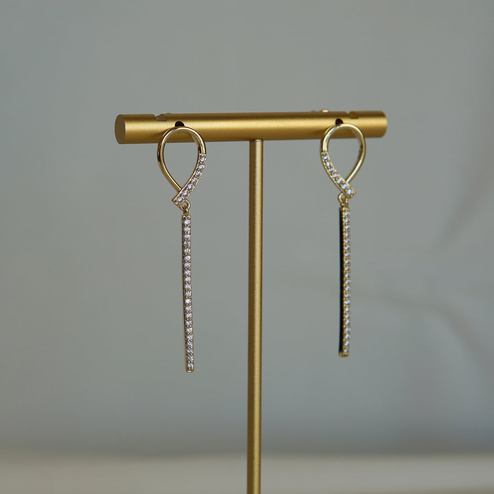 Elisa Gold-plated Drop Earings - atto.studio