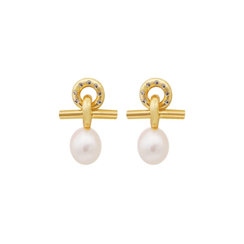 Cordelia Freshwater Pearl Earrings - atto.studio