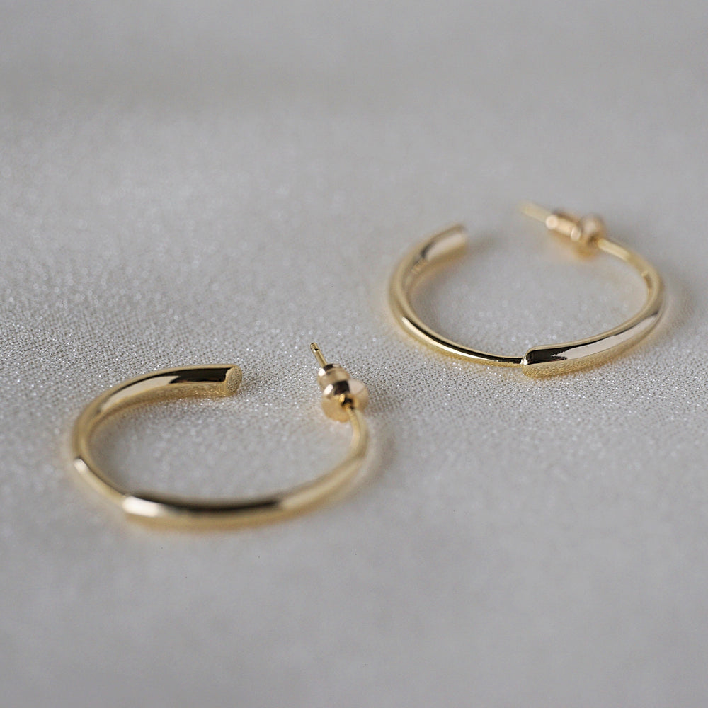 Cleo Gold-plated Hoops - atto.studio