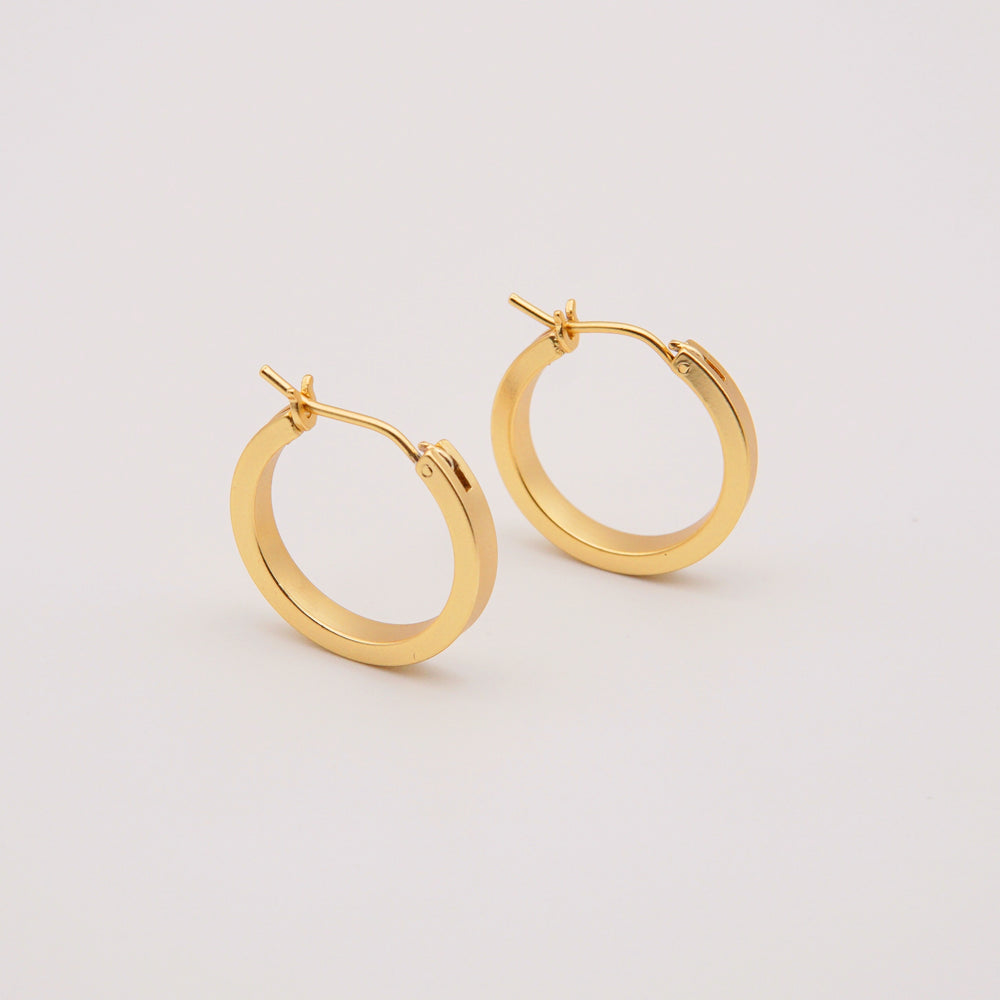 Genevieve 18K Gold-plated Hoop Earrings