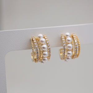 Annie Gold-plated Hoops