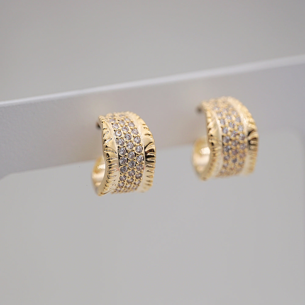 Adele Gold-plated Hoops