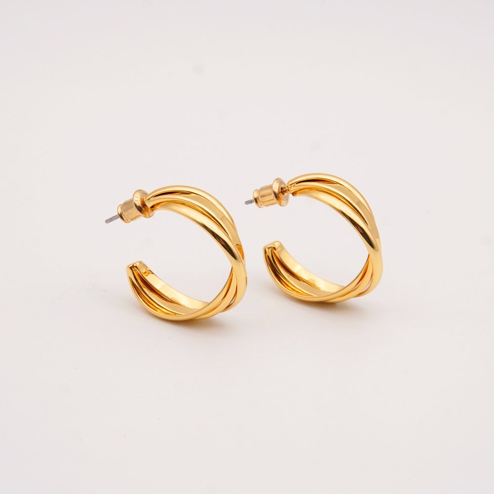 Alex 18K Gold-plated Hoops