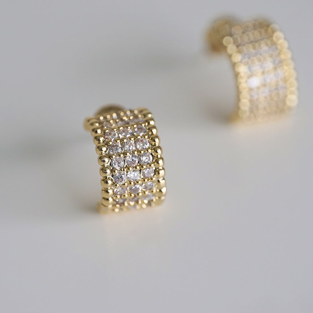 Ferra Gold-plated Hoops