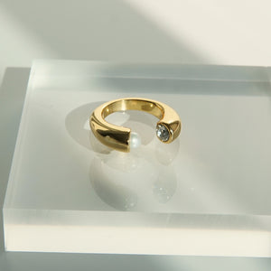 Ester 18K Gold-plated Adjustable Ring