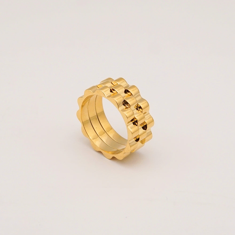 Kelsey 18K Gold-plated Ring