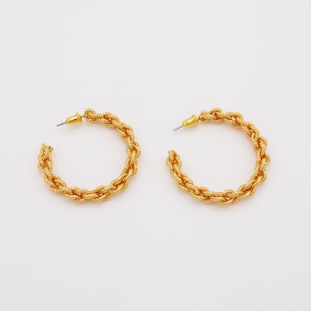 Costa 18K Gold-plated Hoops