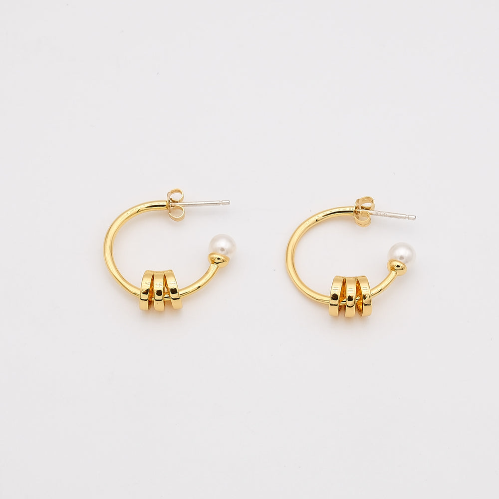 Daria 18K Gold-plated Hoops