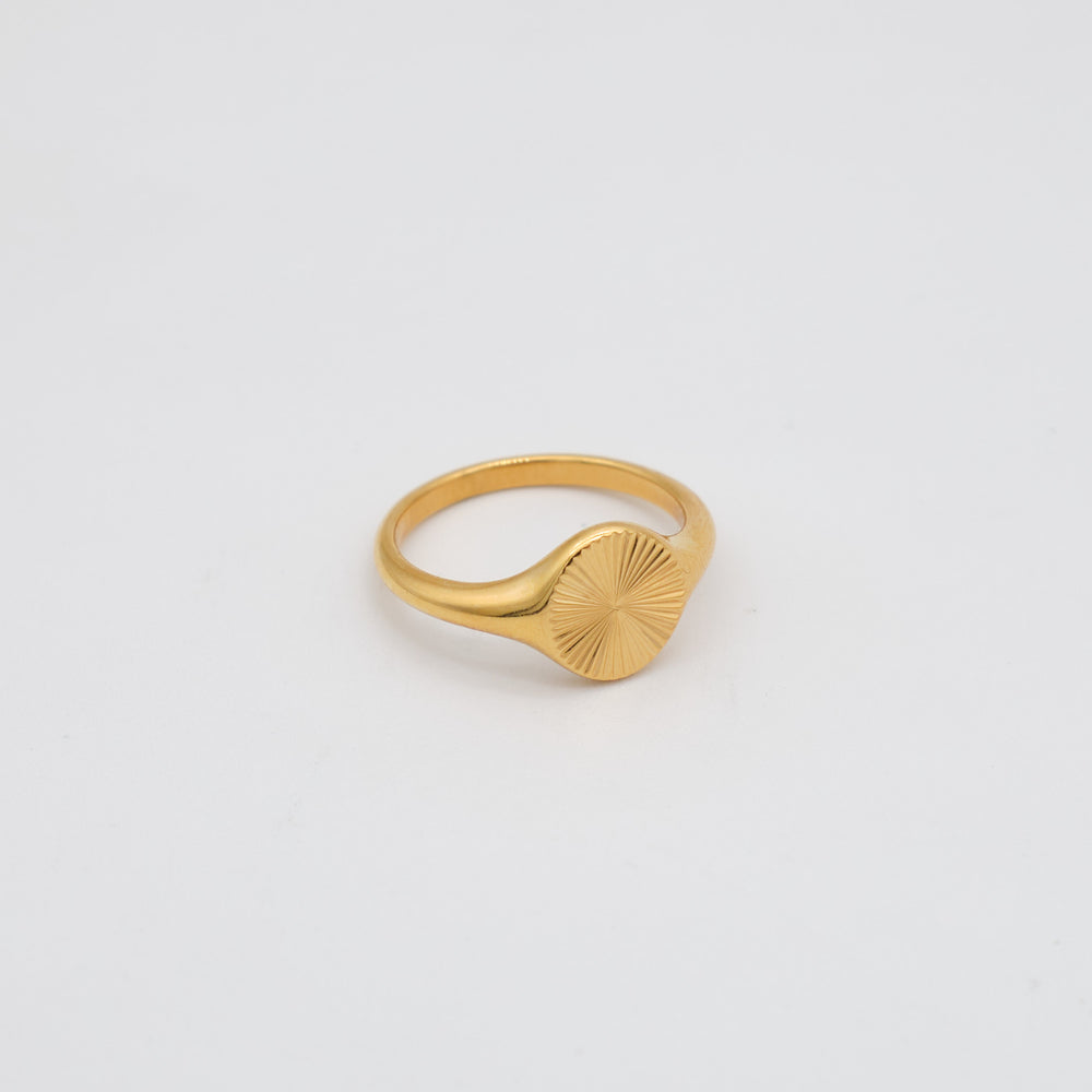 Ramona Signet Ring 18K Gold-plated