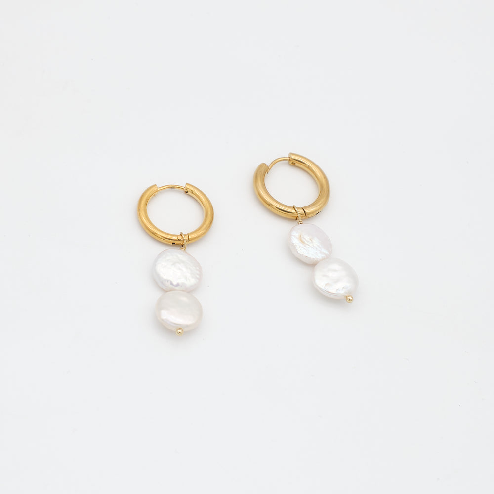 Sandra Double-pearl Drop Earrings