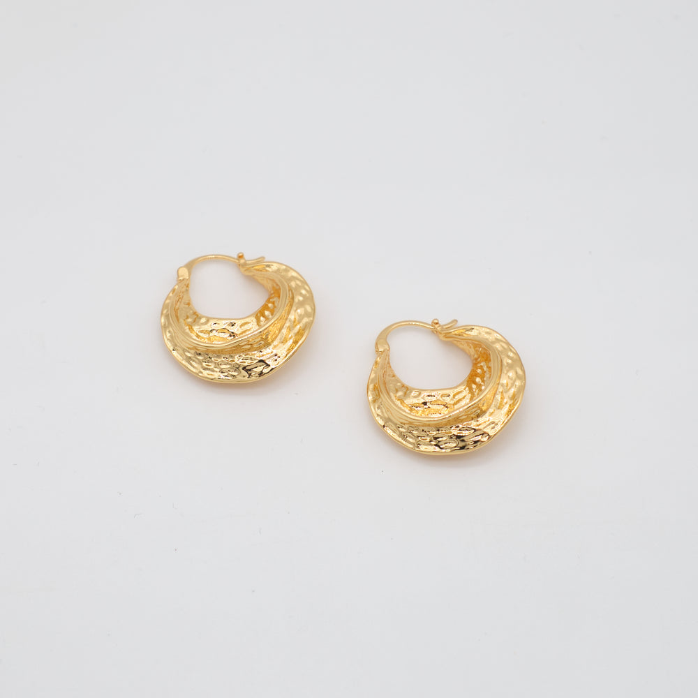 Mellie 18K Gold-plated Hoops