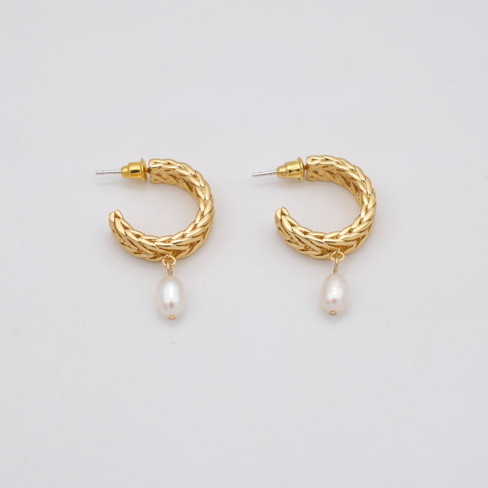 Giana Pearl Hoop Earrings