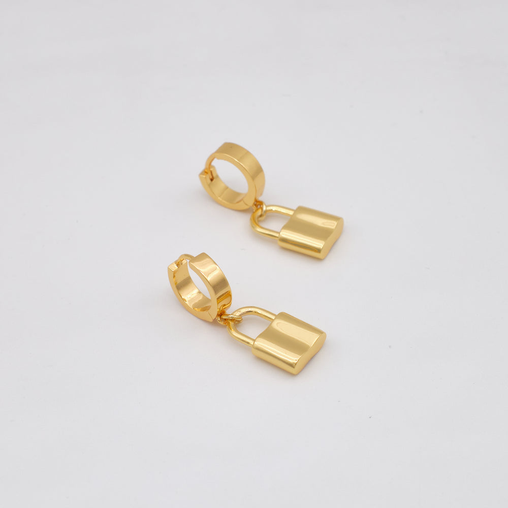Padlock Huggies 18K Gold-plated