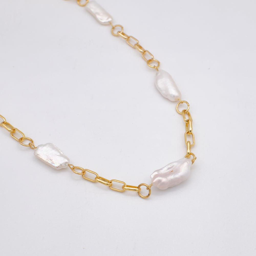 Palma Freshwater Pearl Chain Necklace