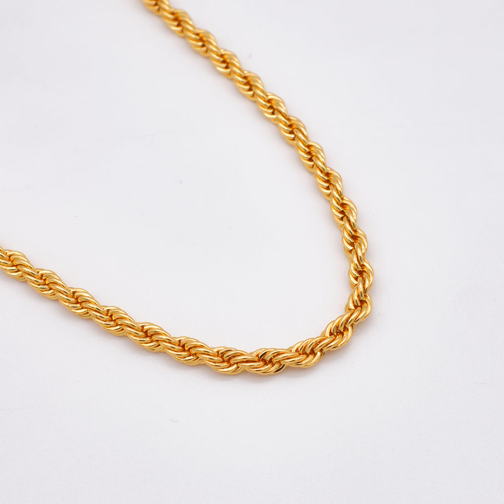 Nadia Braided Necklace 18K Gold-plated