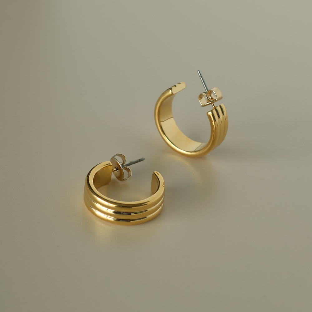 Jolie 18K Gold-plated Hoops