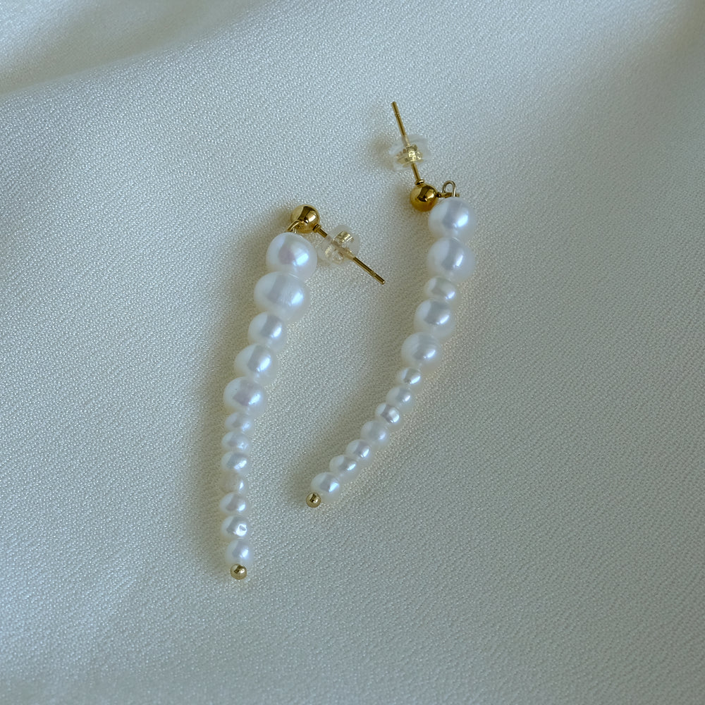 Mermaid Freshwater Pearl Drop Earrings
