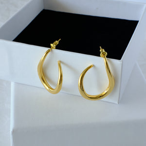 Nora Earrings 18K Gold-plated