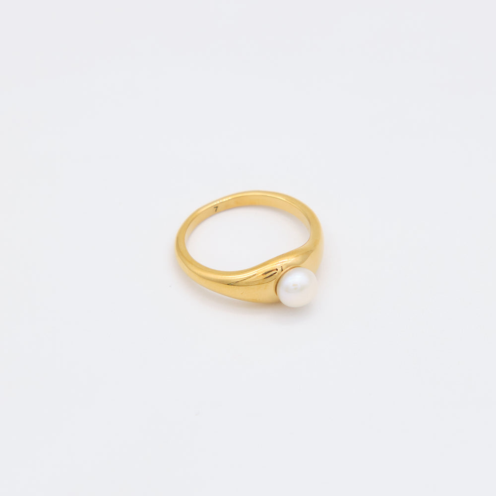 Carolina Freshwater Pearl Ring 18K Gold-plated