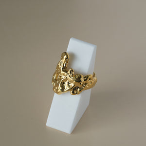 Load image into Gallery viewer, Margo Adjustable Ring 18K Gold-plated