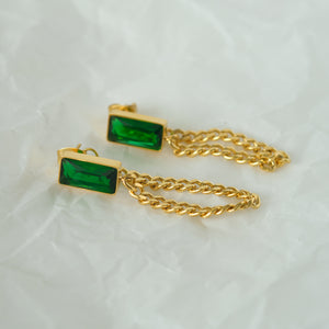Load image into Gallery viewer, Joyce Front-back Earrings 18K Gold-plated