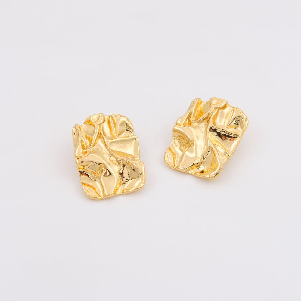 Frida Textured Earrings 18K Gold-plated