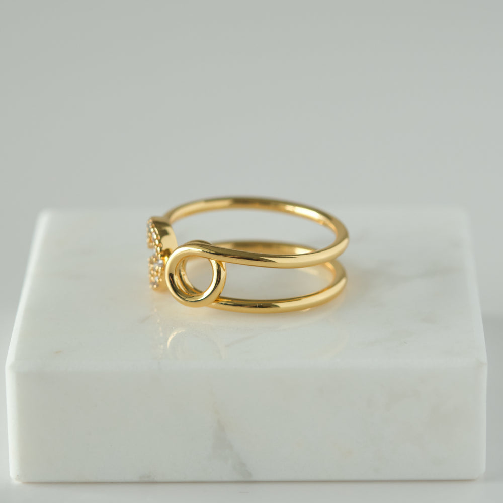 Load image into Gallery viewer, Helene 18K Gold-plated Ring