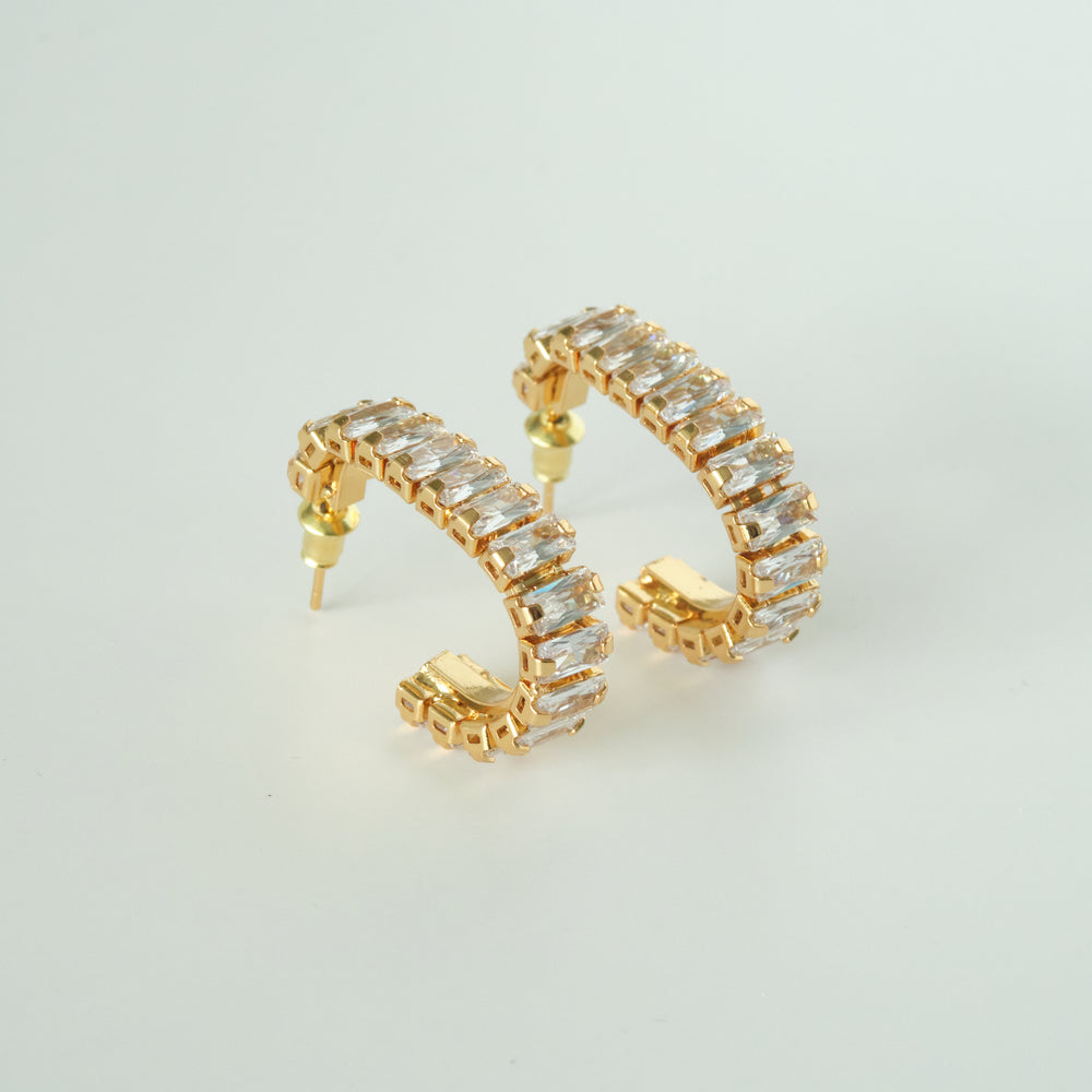 Aria Square Hoops 18K Gold-plated