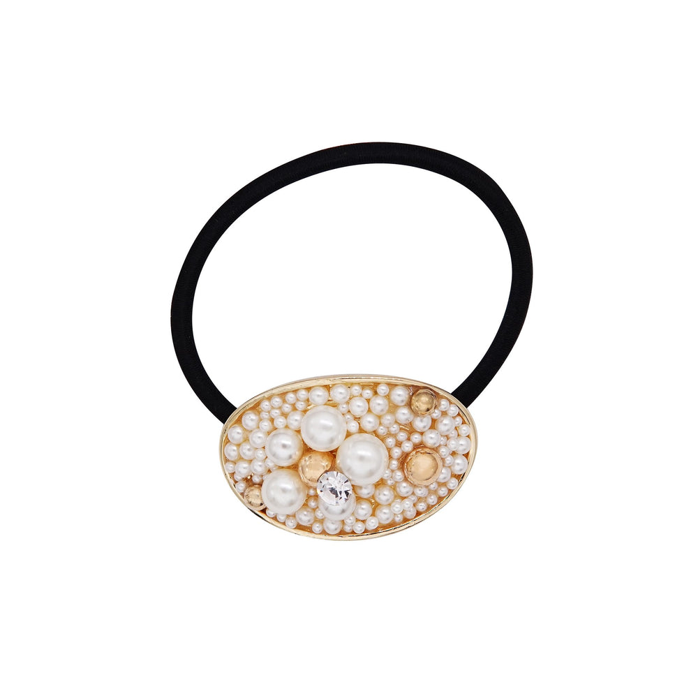 Darcey Pearl Hair Tie Oval