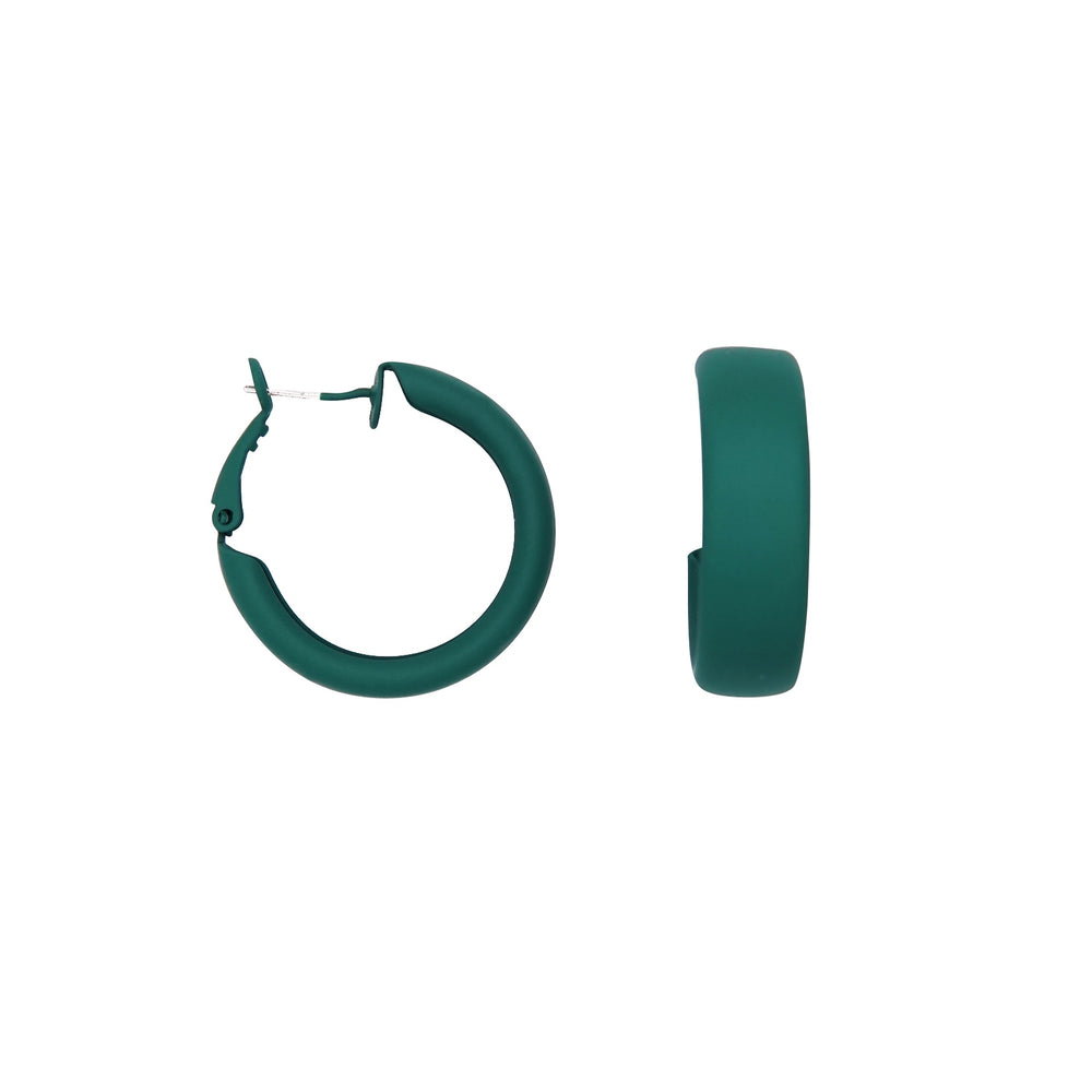 Debby Hoop Earrings Green - atto.studio