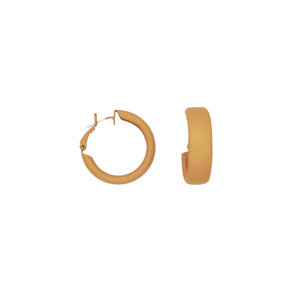 Debby Hoop Earrings Mustard
