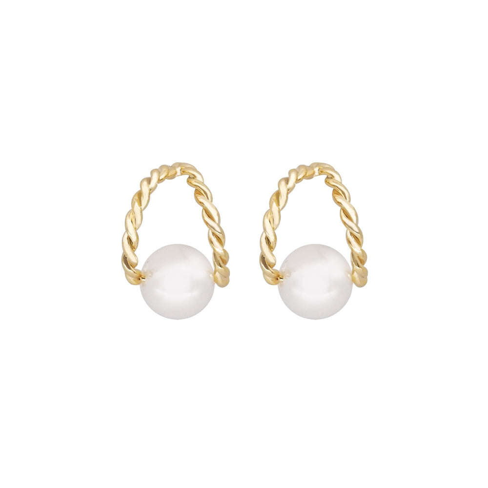 Julianne Stud Earrings GOLD - atto.studio