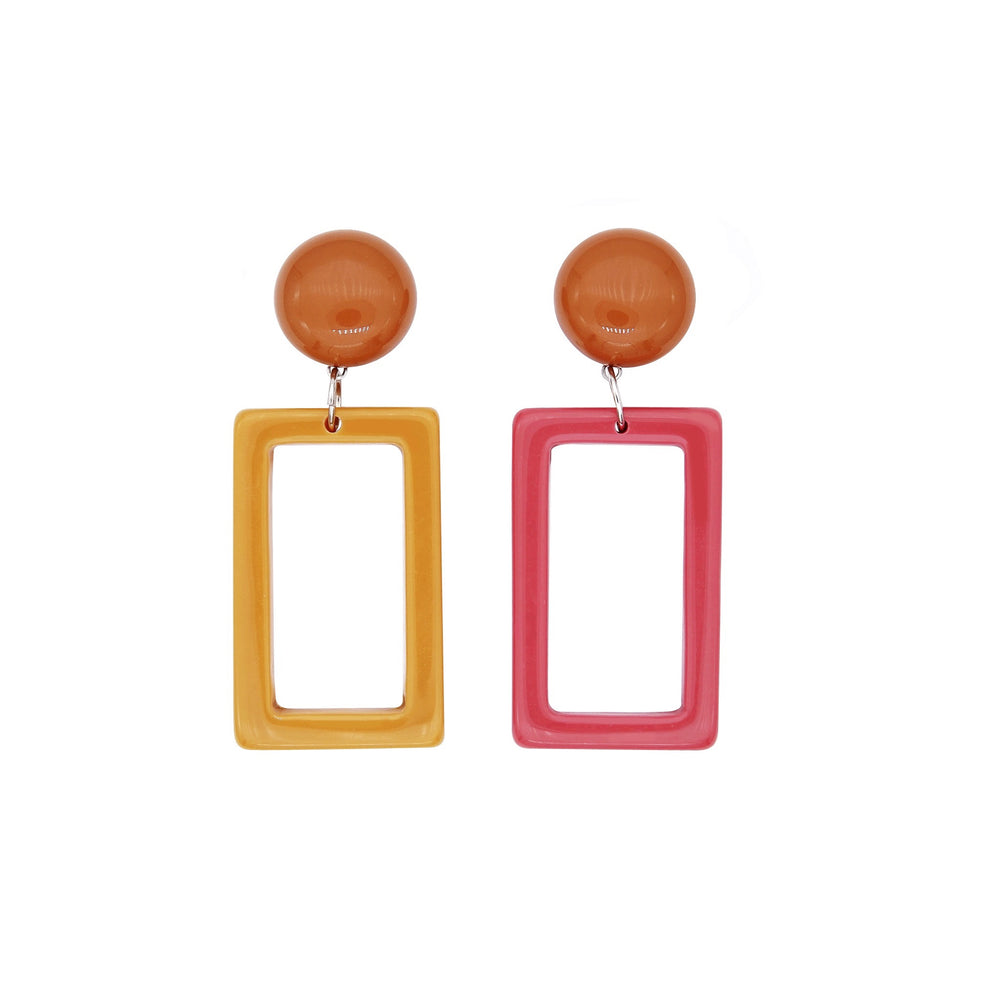 Mona Mismatch Drop Earrings - atto.studio