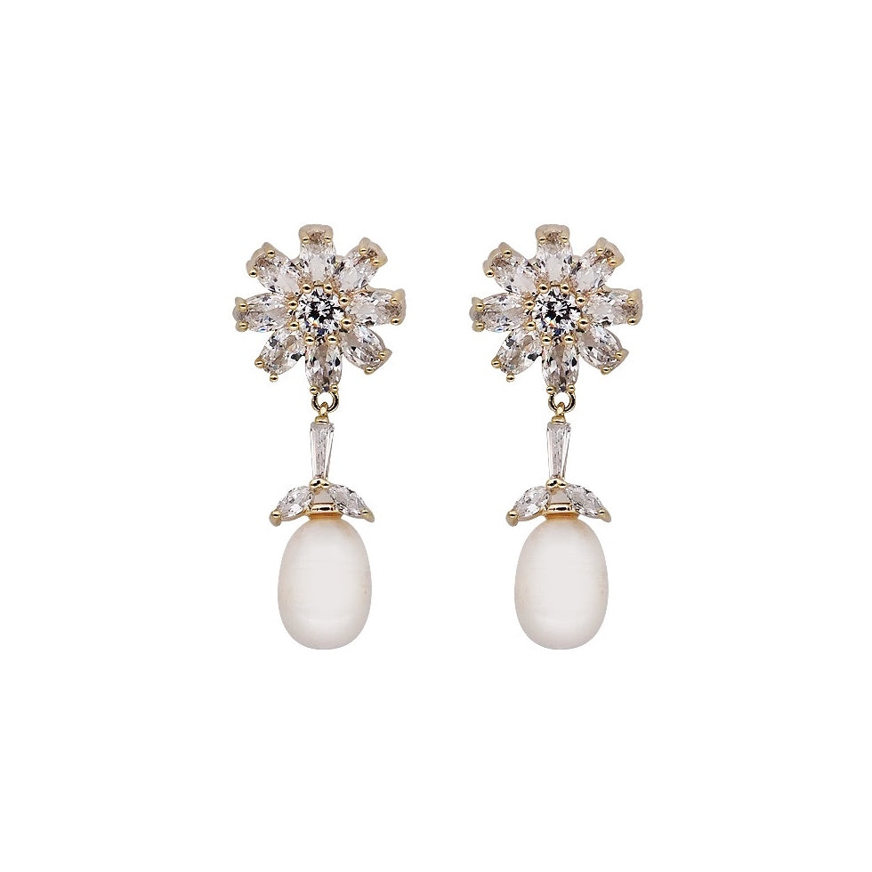 Erica Freshwater Pearls Drop Earrings