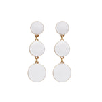 Fallon Drop Earrings White - atto.studio