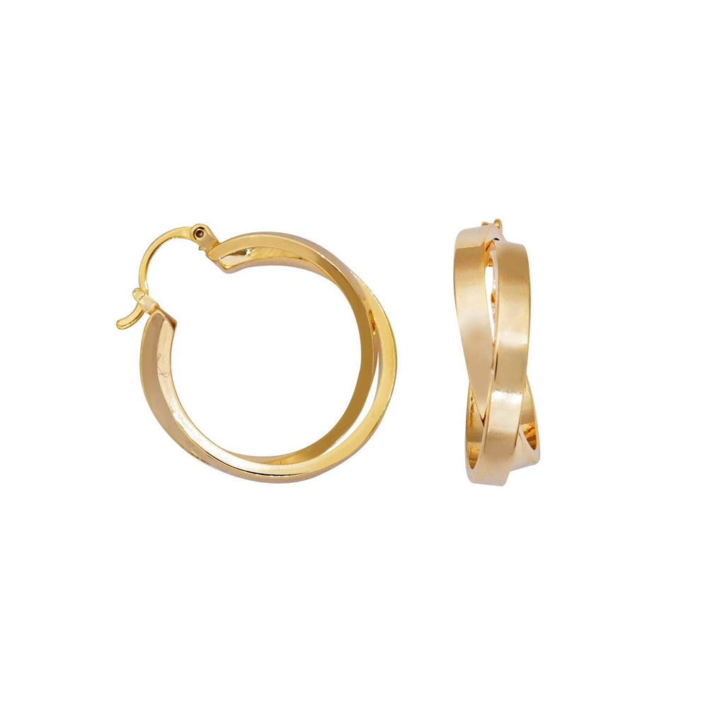 Freda Double Twist Hoop Earrings