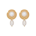 Fullmoon Freshwater Pearl Earrings