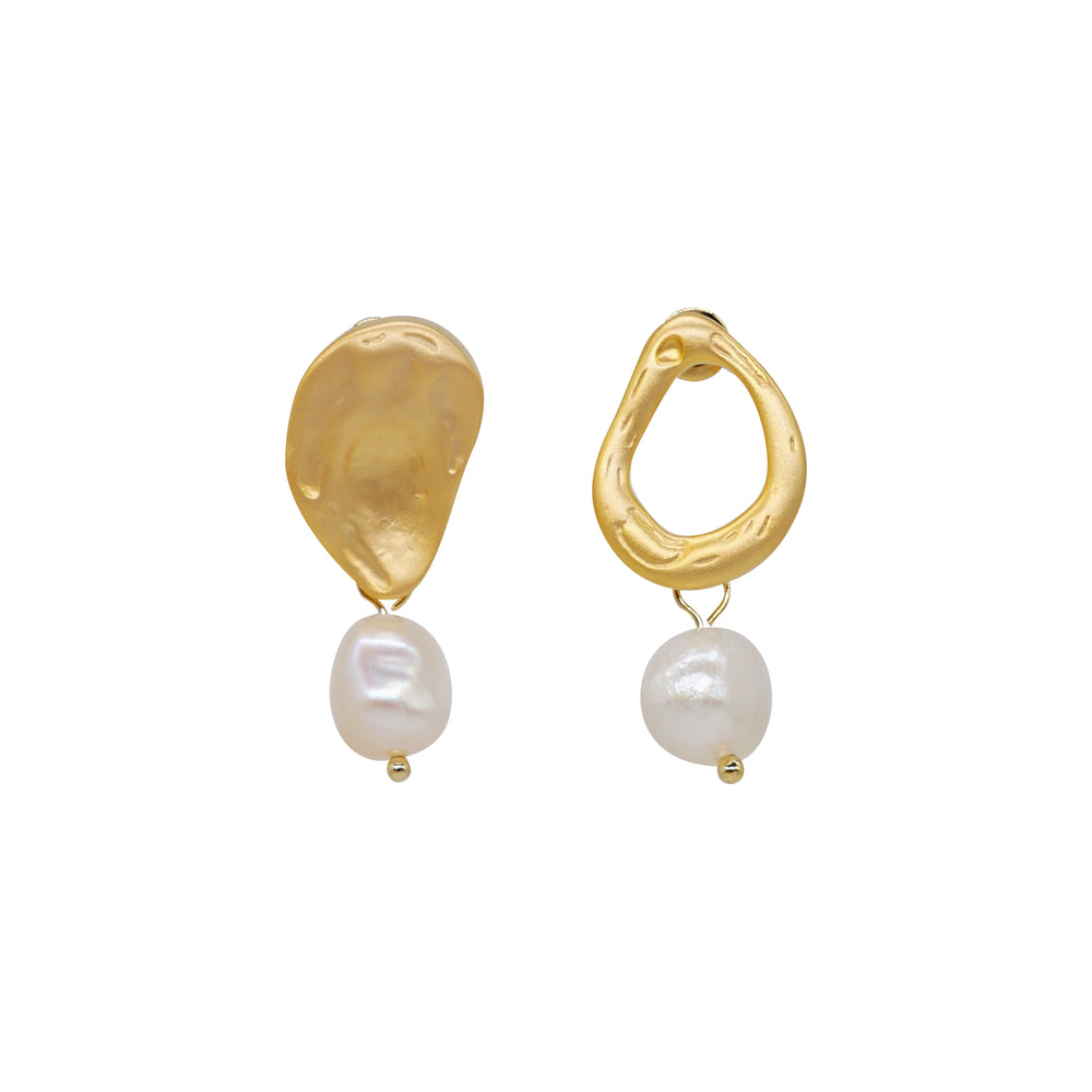 Golden Pearl Earrings (2 colours)