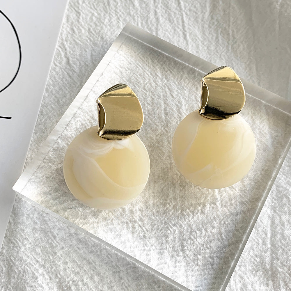 Shelley Statement Earrings White - atto.studio