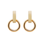 Onora Double Hoop Earrings White